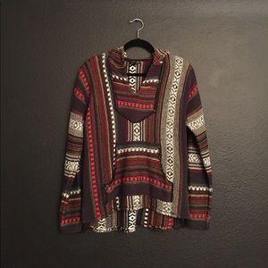 Mexican blanket style hoodie